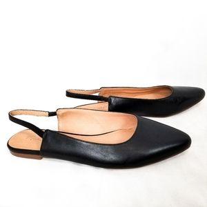 Madewell   Margot Slingback Leather Flats